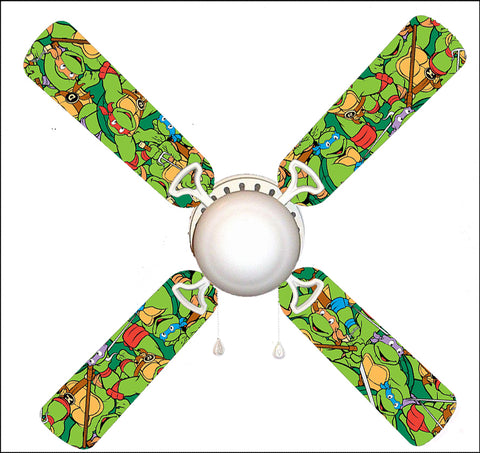 "TMNT Teenage Mutant Ninja Turtles 42"" Ceiling Fan and Lamp"