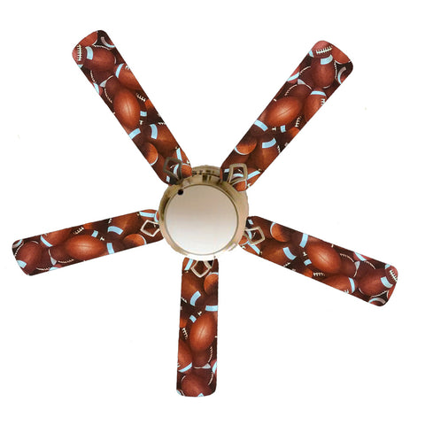 "Football Toss 52"" Ceiling Fan and Lamp"