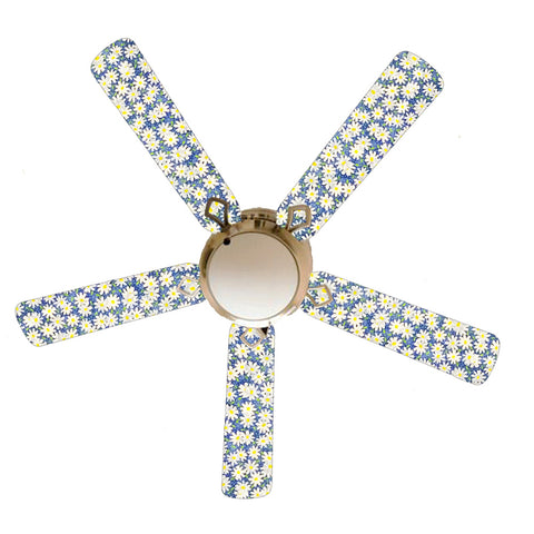 "Daisy Gingham 52"" Ceiling Fan with Lamp"
