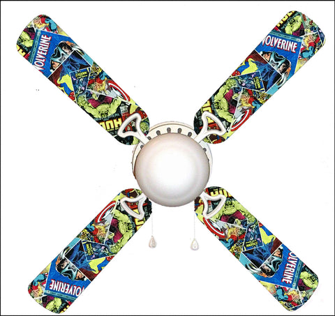"Marvel Comic Books 42"" Ceiling Fan and Lamp"