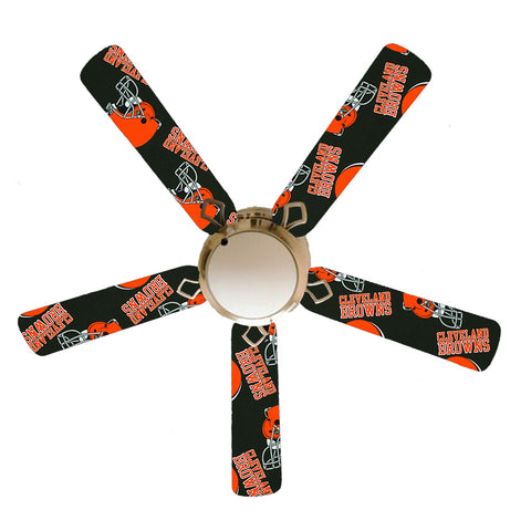 "Cleveland Browns 52"" Ceiling Fan with Lamp"