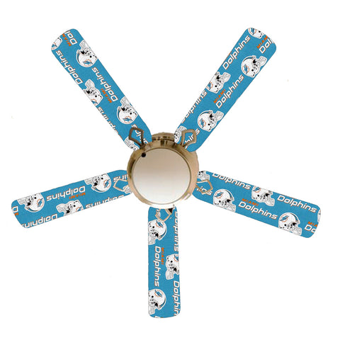 "Miami Dolphins 52"" Ceiling Fan with Lamp"