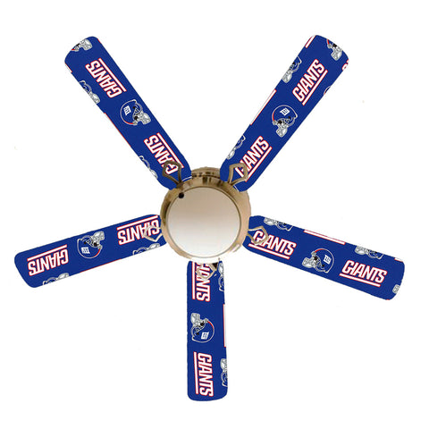 "New York Giants 52"" Ceiling Fan with Lamp"
