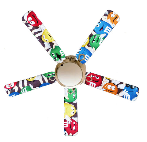 "M & M Candy 52"" Ceiling Fan and Lamp"