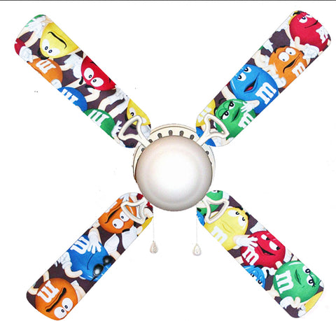 "M & M Candy 42"" Ceiling Fan and Lamp"