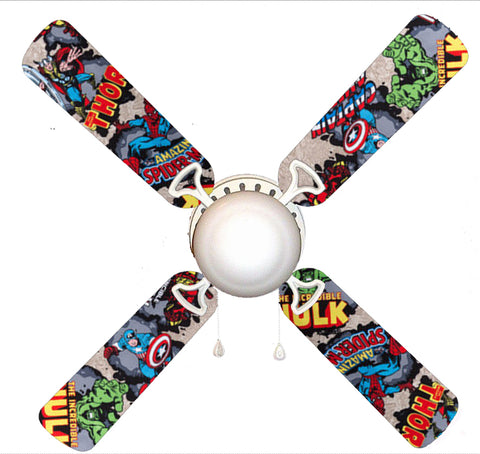 "Marvel Avengers Super Heroes 42"" Ceiling Fan and Lamp"