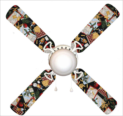 "Italian Feast Family Dinner Kitchen 42"" Ceiling Fan and Lamp"