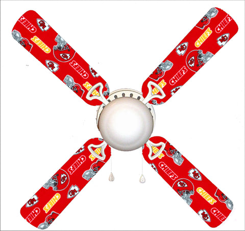 "Kansas City Chiefs 42"" Ceiling Fan and Lamp"