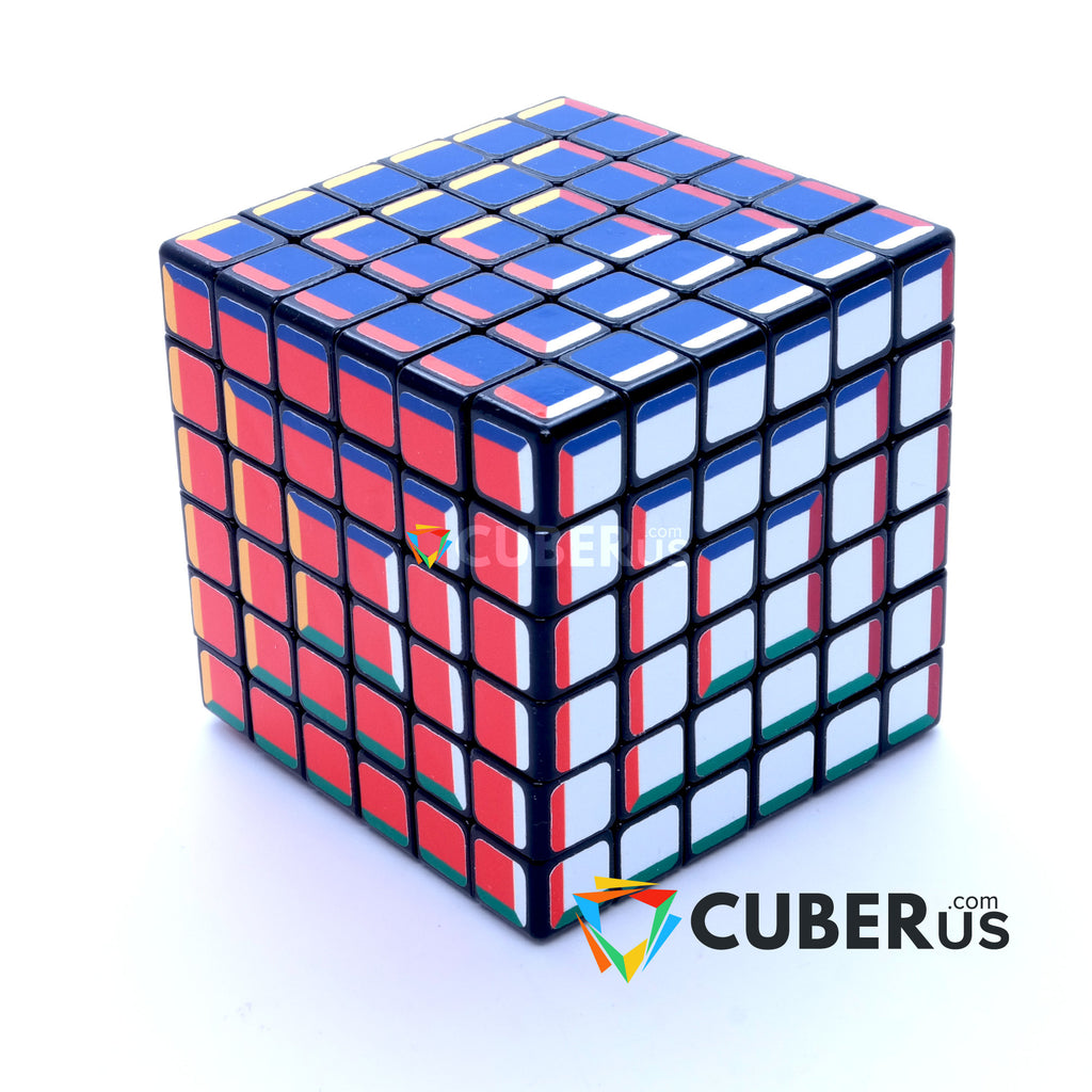 6x6x6 Super Pochmann Black Supercube Sticker Mod Puzzle