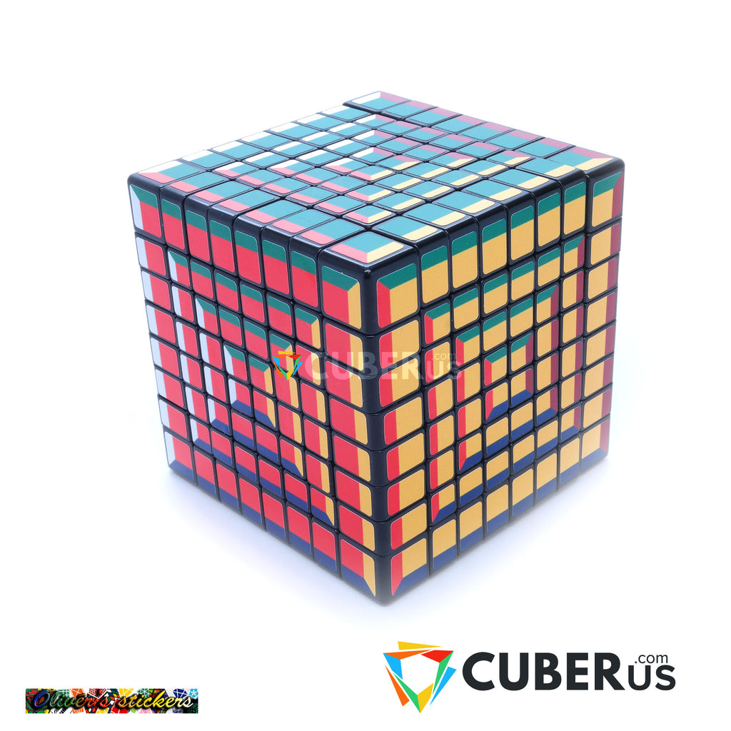 8x8x8 Super Pochmann Supercube Sticker Mod Puzzle