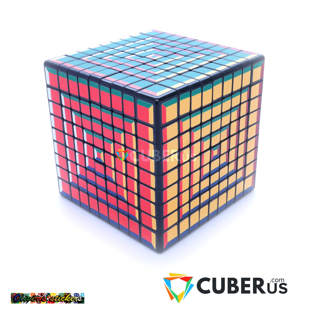 9x9x9 Super Pochmann Black Supercube Sticker Mod Puzzle