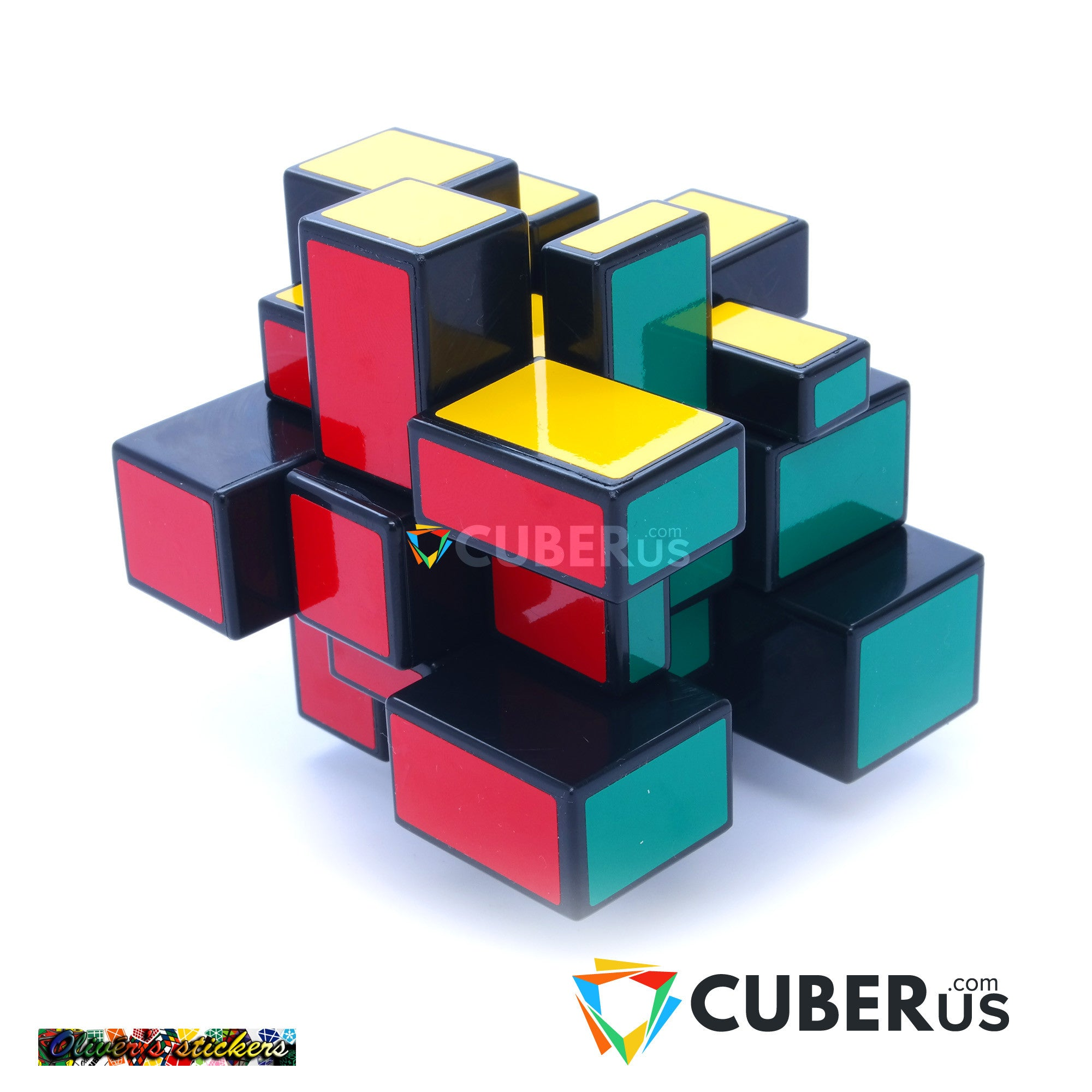 3x3x3 Black Two Solution Horror Mirror Bump Puzzle Cube