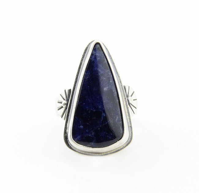INDIGO SUN Sodalite Shield Ring