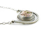 HORIZON DISC NECKLACE - Ocean Jasper and Sterling Silver