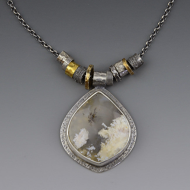 "Oregon Plume Agate ""Organics"" Necklace"