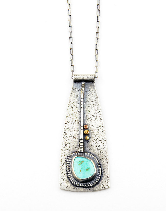 Origins Mixed Metal Turquoise Necklace - Limited Edition
