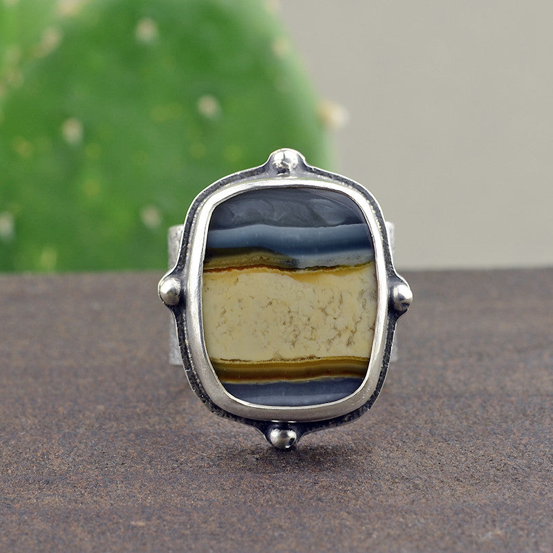 Tahoma Jasper Wide Band Ring - Size 7.5