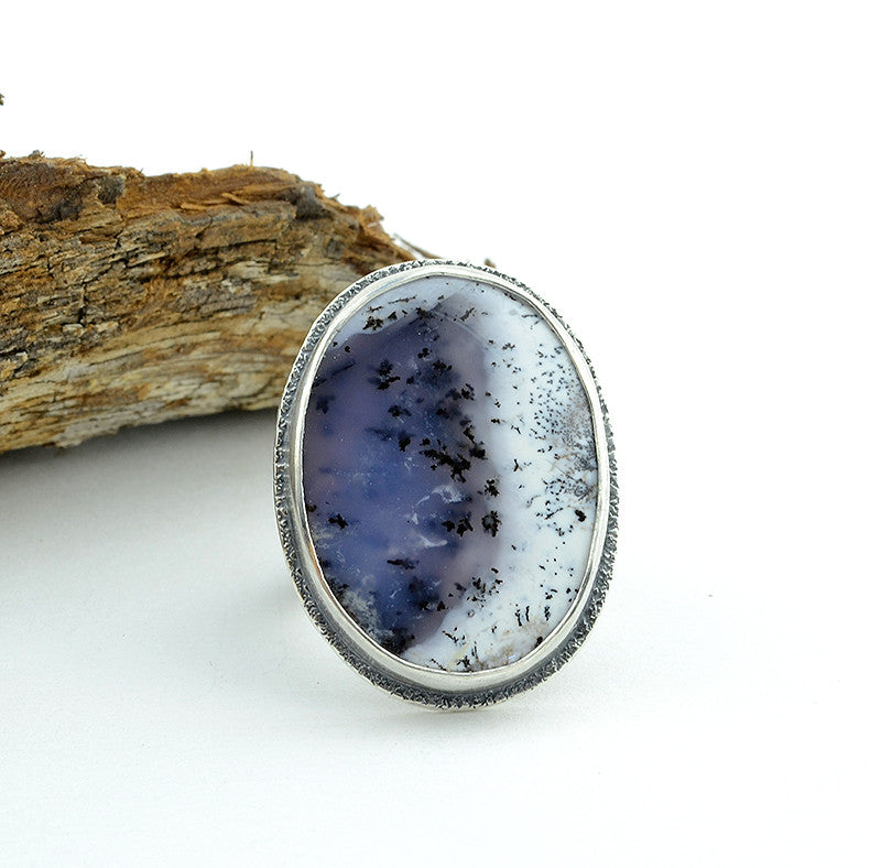 Turkish Dendritic Agate Ring - Size 8