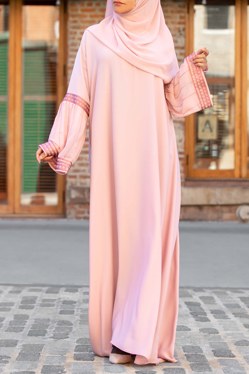 Afifah Abaya in Blush | Al Shams Abayas 5