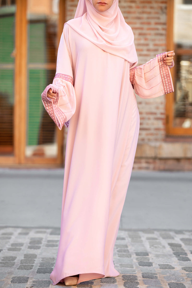Afifah Abaya in Blush | Al Shams Abayas 4