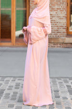 Afifah Abaya in Blush | Al Shams Abayas 3