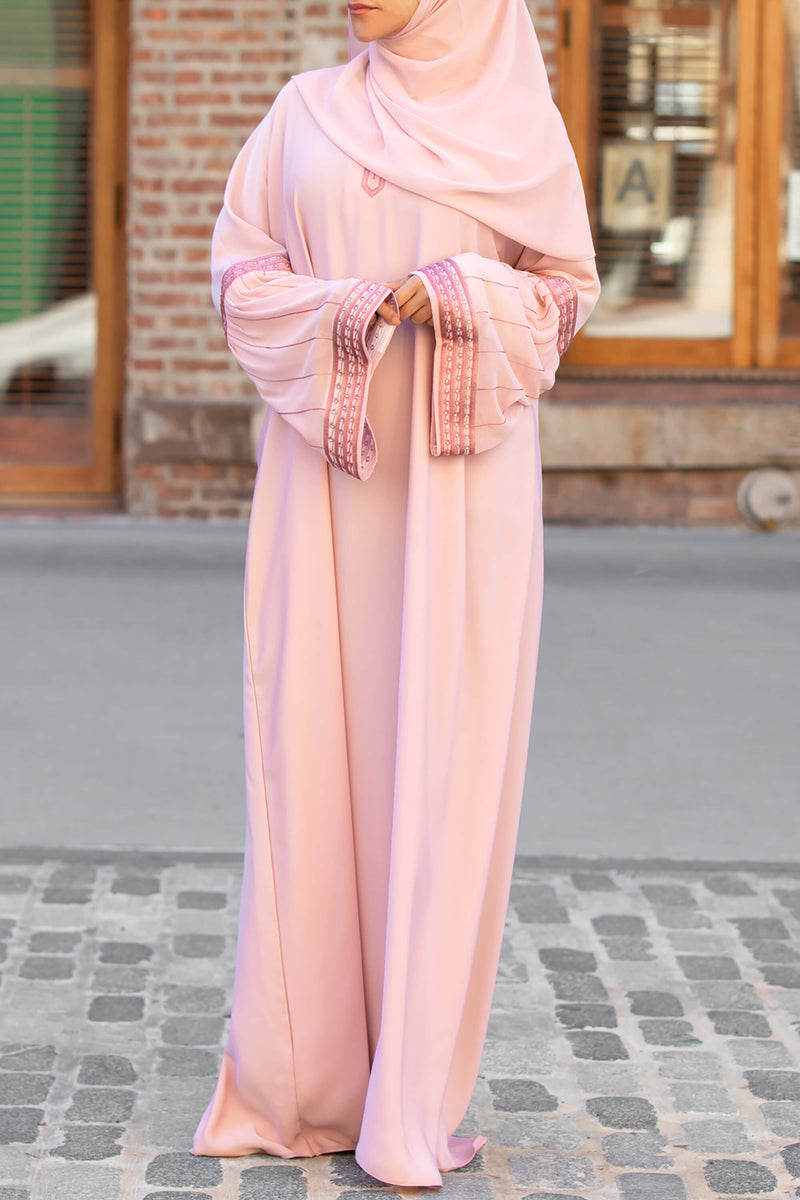 Afifah Abaya in Blush | Al Shams Abayas 1