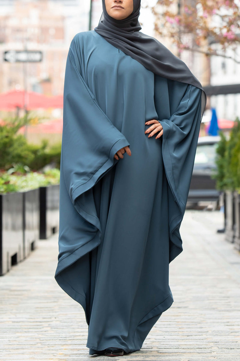 Chamisa Abaya in Teal | Al Shams Abayas 1