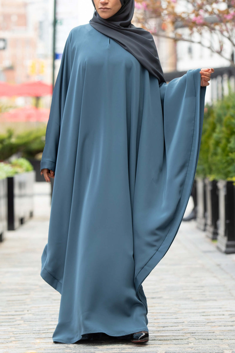 Chamisa Abaya in Teal | Al Shams Abayas 3