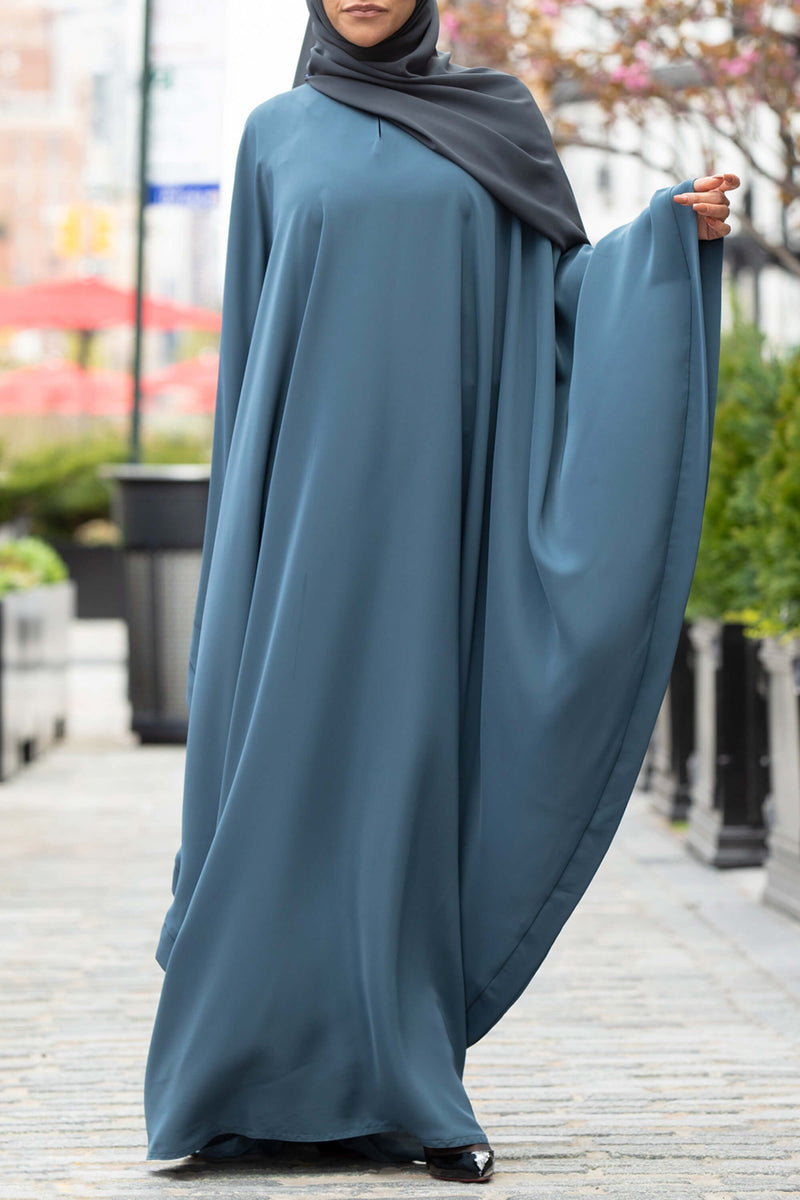 Chamisa Abaya in Teal | Al Shams Abayas 4