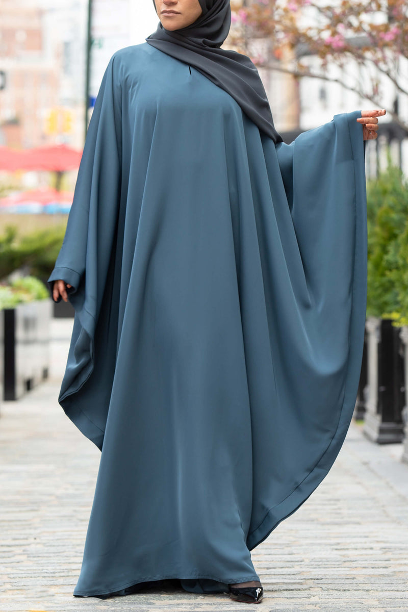Chamisa Abaya in Teal | Al Shams Abayas 5