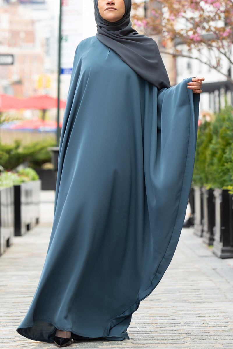 Chamisa Abaya in Teal | Al Shams Abayas 6