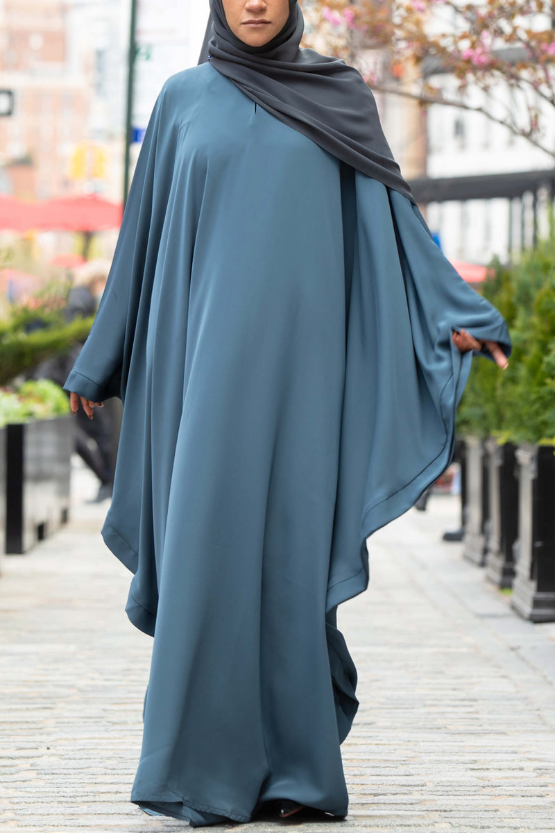 Chamisa Abaya in Teal | Al Shams Abayas 7
