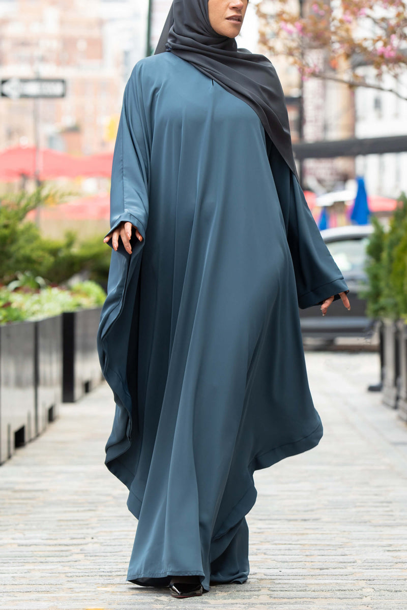 Chamisa Abaya in Teal | Al Shams Abayas 8
