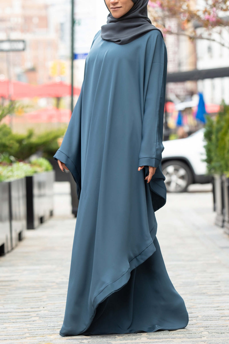 Chamisa Abaya in Teal | Al Shams Abayas 9