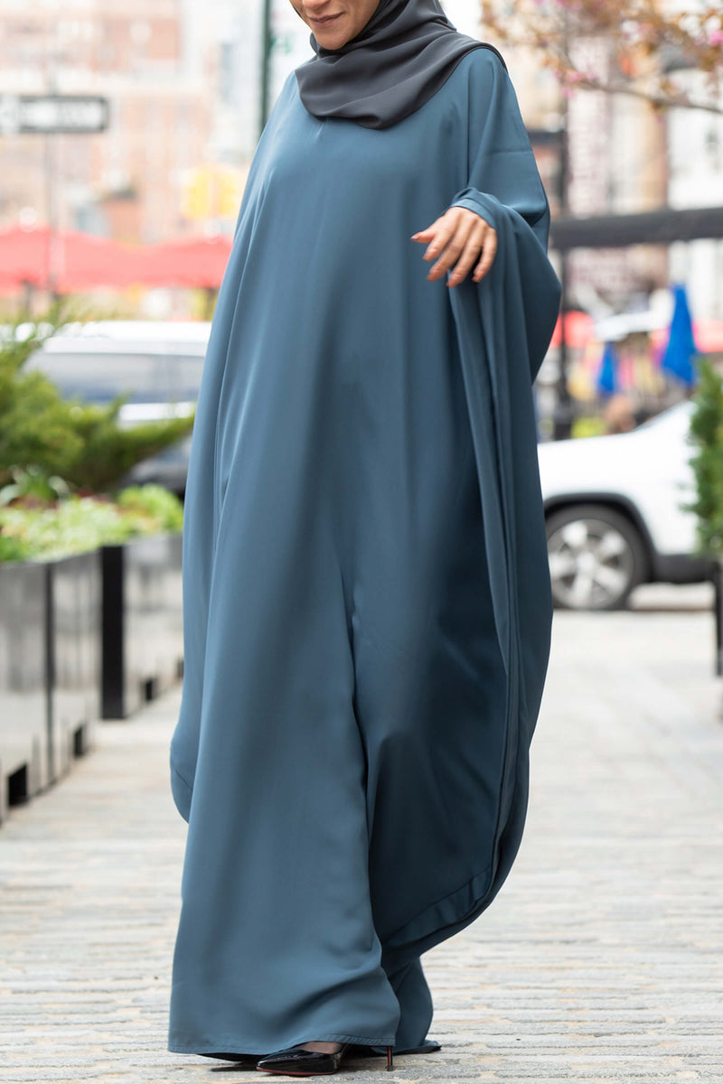 Chamisa Abaya in Teal | Al Shams Abayas 10