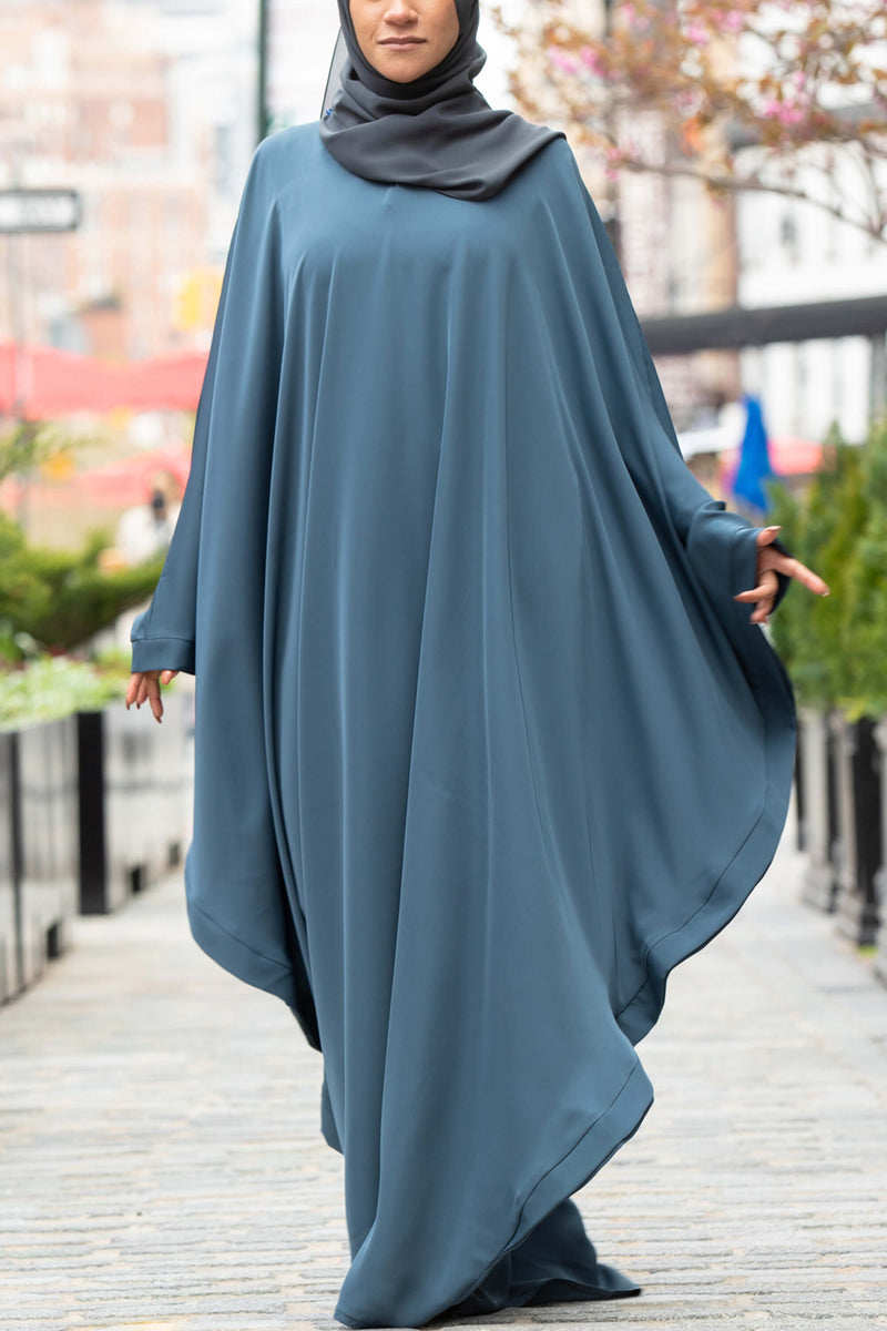 Chamisa Abaya in Teal | Al Shams Abayas 11