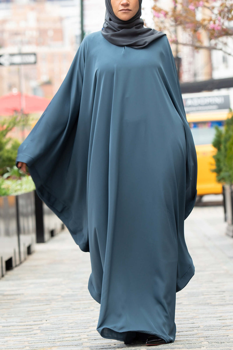 Chamisa Abaya in Teal | Al Shams Abayas 12