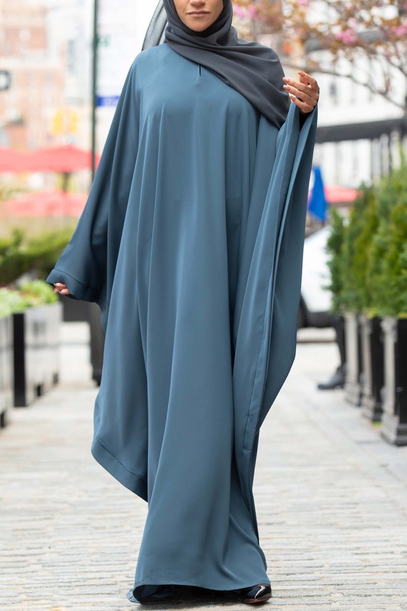 Chamisa Abaya in Teal | Al Shams Abayas 13