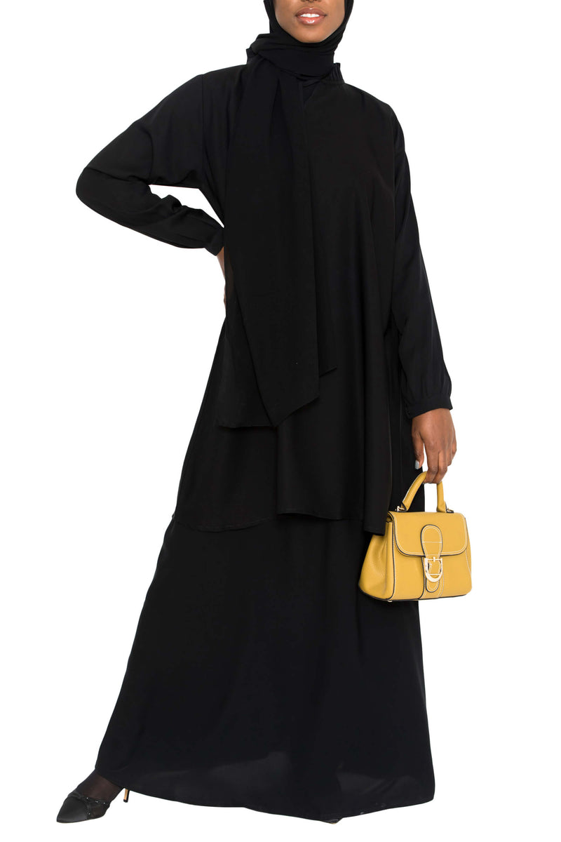 Ellie Tunic Black | Al Shams Abayas 2