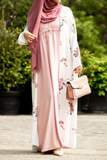 Essential Drawstring Maxi in Rose Pink - Al Shams Abayas 1