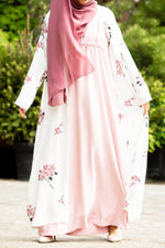 Essential Drawstring Maxi in Rose Pink - Al Shams Abayas 2