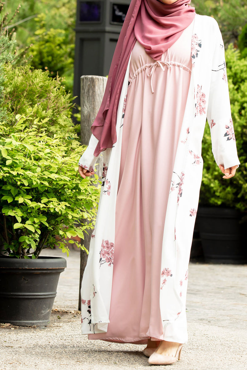 Essential Drawstring Maxi in Rose Pink - Al Shams Abayas 3