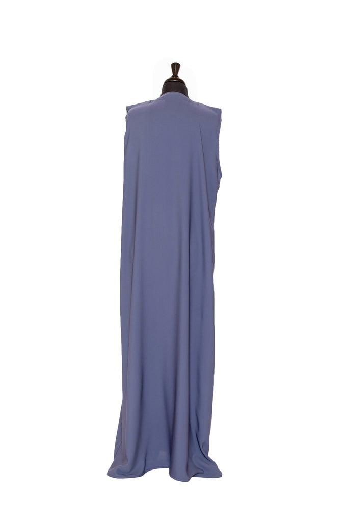 Essential Maxi Sheath Dress in Dusty Blue | Al Shams Abaya 1