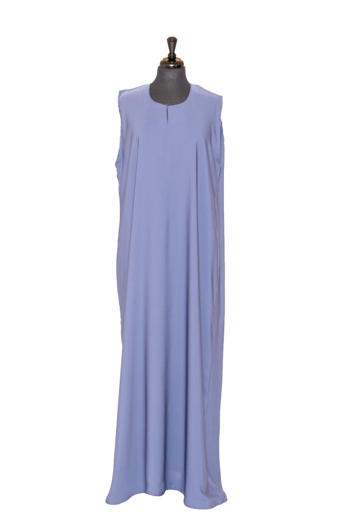Essential Maxi Sheath Dress in Dusty Blue | Al Shams Abayas