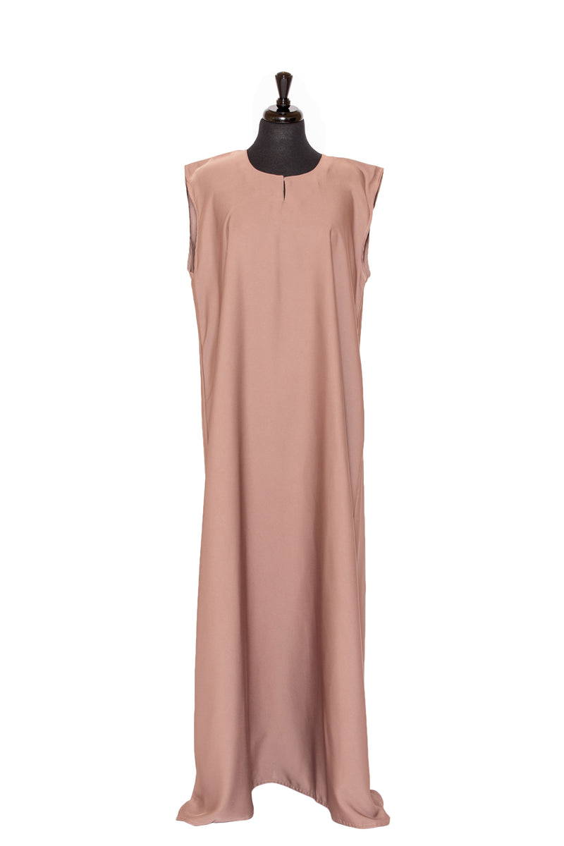 Essential Sleeveless Maxi in Warm Caramel | Al Shams Abayas 1