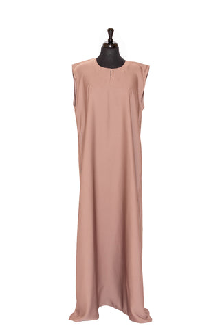 Essential Maxi Sheath Dress in Pearl Beige