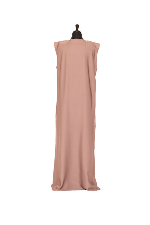 Essential Sleeveless Maxi in Warm Caramel | Al Shams Abayas 2