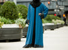 Farida Abaya in Persian Blue - Al Shams