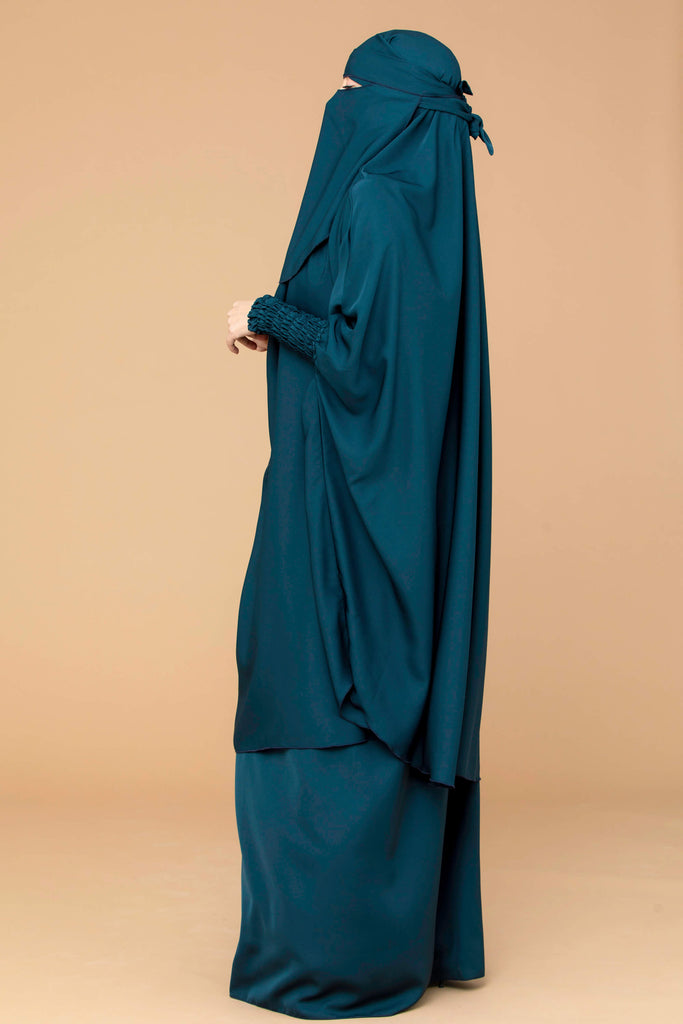 Mahasen Jilbab Set in Jade  | Al Shams Abayas