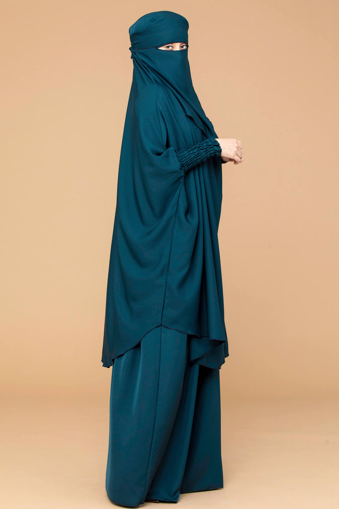 Mahasen Jilbab Set in Jade  | Al Shams Abayas 26